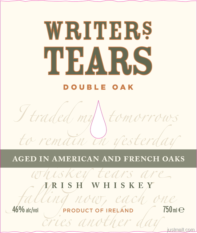 Writers Tears Double Oak Irish Whiskey