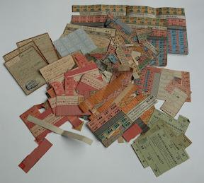 Bonnen en stamkaarten voor distributie.