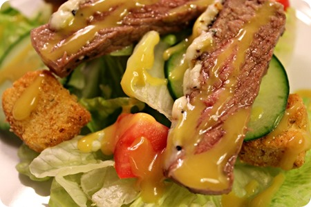 steak salad at food nanny