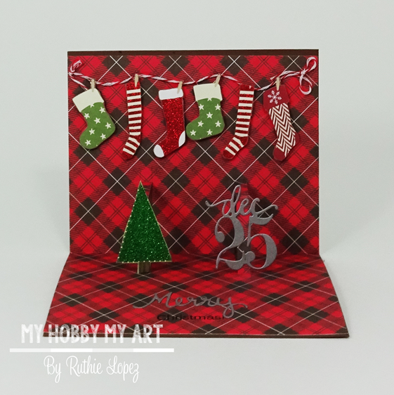 Latinas Arts and Crafts - Pop Up card -Christmas Card - Ruthie Lopez 3