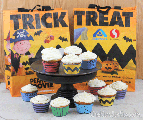 Trick or treat peanuts cupcakes