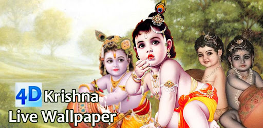 4d Little Krishna App Live Wallpaper Apps On Google Play