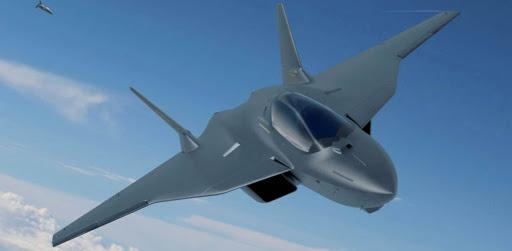 Ilustrasi Jet Tempur Generasi Keenam FCAS