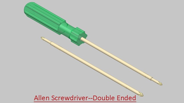 Allen Screwdriver (Double Ended)