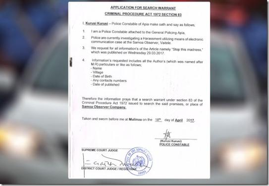 PFF samoa observer warrant 02