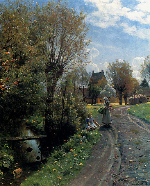 Peder Mork Monsted - By The River, Brondbyvester, 1922