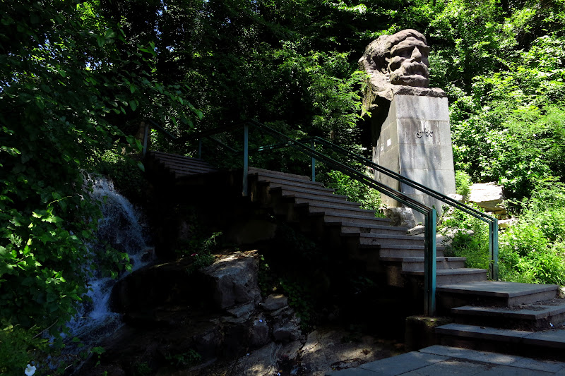 Stairs leading to the park in Kutaisi