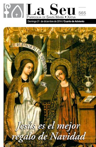 Hoja Parroquial Nº564 - Soy la voz que grita en el desierto. Iglesia Colegial Basílica de Santa María de Xàtiva - Sexto aniversario de la erección de la colegiata.