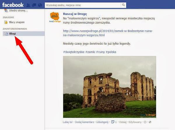 Ruszaj w Drogę na Facebooku - Gdzie znajdę listy zainteresowań?