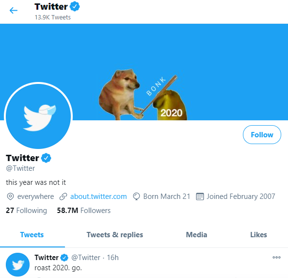 Twitter puts cheems meme cover pic on their official handle