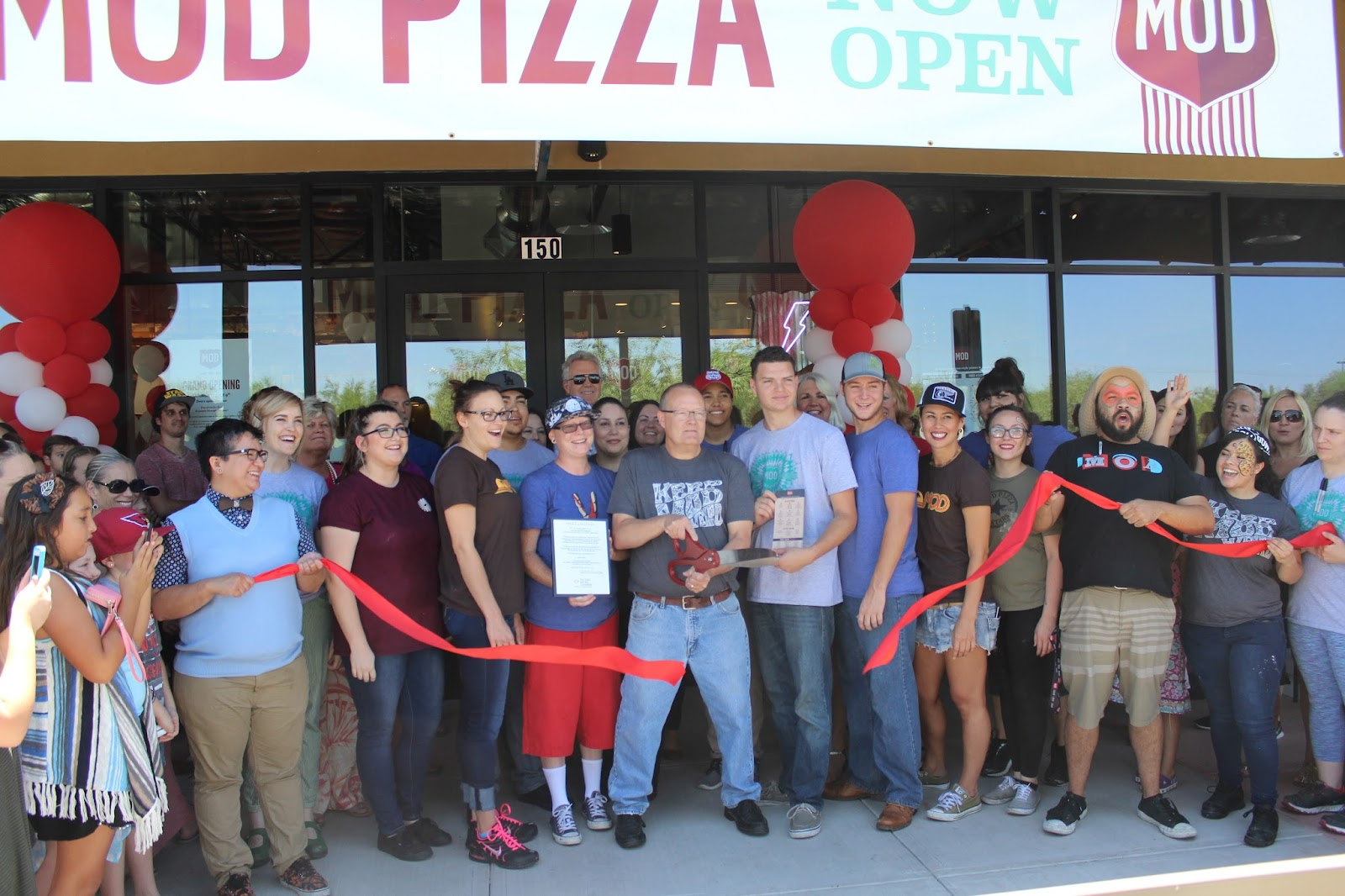 Congratulations to MOD Pizza, located at 10580 N. Oracle Road #150, on their Grand Opening! MOD Pizza has been serving individual, artisan-style pizzas and salads superfast since 2008.  Any toppings, same price.