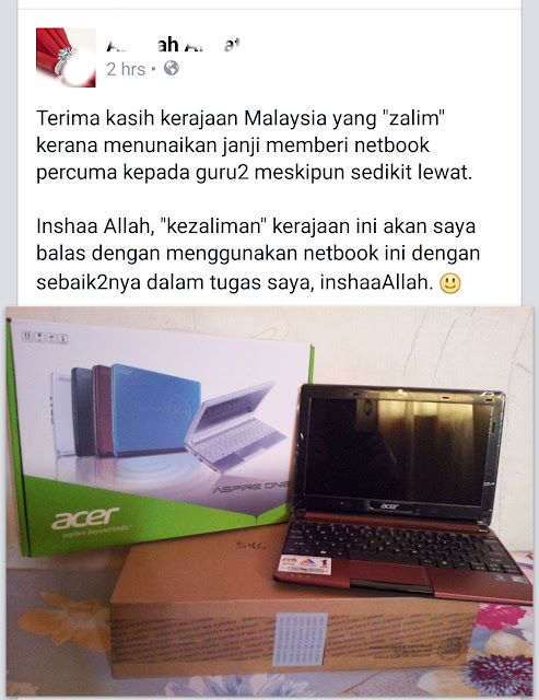 Keyboard warrior Najib dah dapat habuan?