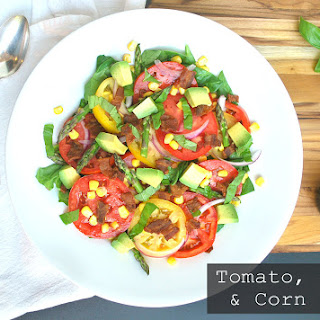 Tomato, Bacon, and Corn Salad with Raspberry Balsamic Vinaigrette