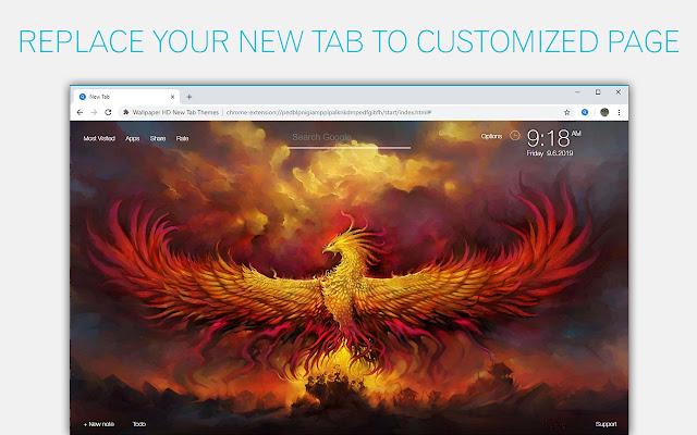 Phoenix Wallpaper HD Custom New Tab