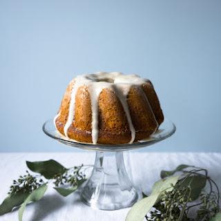 PUMPKIN CAKE WITH CANDIED GINGER + LEMON GLAZE