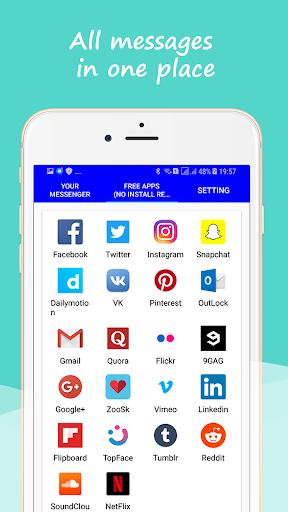 Social Messenger: Message, Text, Video, Chat 1.5 screenshots 2