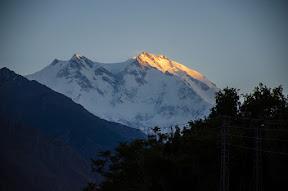 Near Jaglot 6pm. Last Rays of light on the killer mountain.