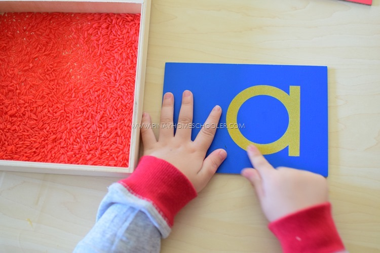 how to use the montessori sandpaper letters the pinay homeschooler