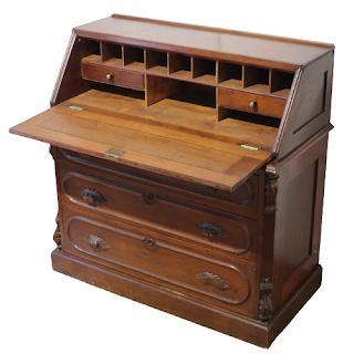 Eastlake Mahogany Secretary Desk