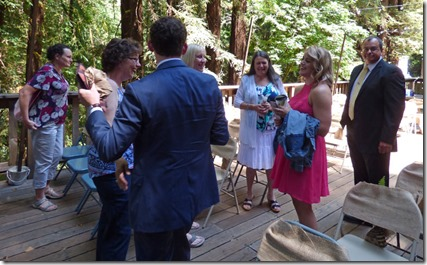 Ryan, Kaelyn, , aunts and step-father -- Michael and Anna, Wedding Day, Camp Meeker California, July 21, 2018