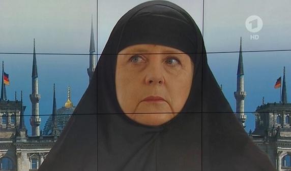 Merkel in Burka