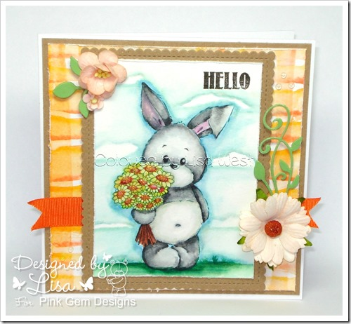 Bunny with Flowers (2)