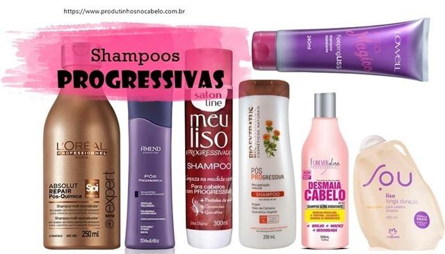 Shampoo para Cabelo com Progressiva vários