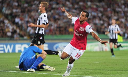 Theo Walcott, Udinese - Arsenal