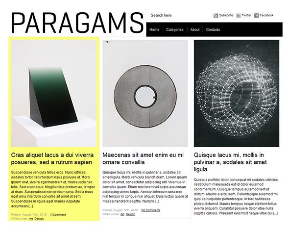 Paragams Vintage WordPress Theme