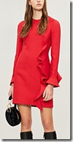 Valentino Ruffled Wool and Silk Mini Dress
