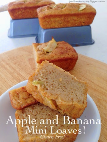 Gluten Free Apple and Banana Mini Loaves