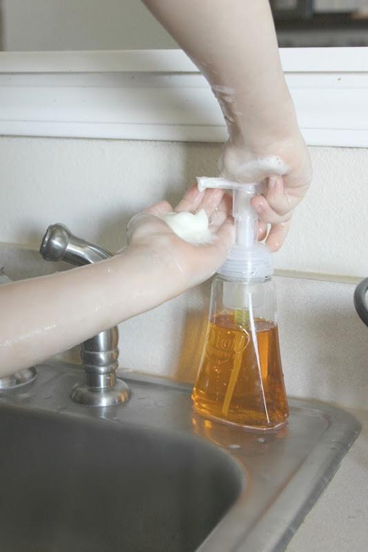 hand washing with kids