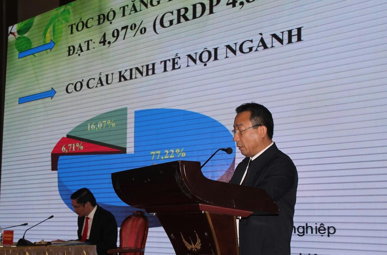 Ông Nguyễn Văn Đệ - Giám đốc Sở Nông nghiệp và PTNT Nghệ An báo cáo kết quả hoạt động năm 2019 và kế hoạch 2020