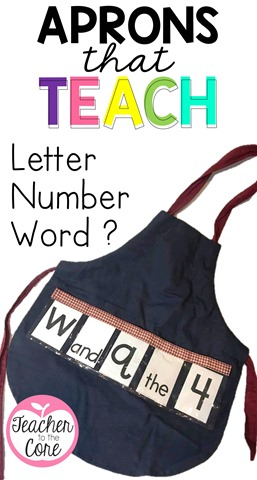 Teacher to the Core loves these Show and Tell Aprons