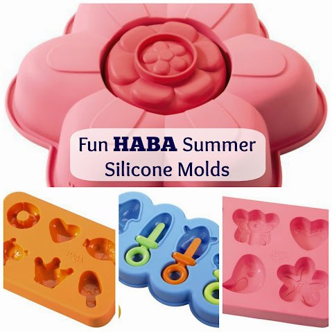 Summer-Themed HABA Silicone Molds: Cake, Cupcakes, Popsicles, Ice Cubes