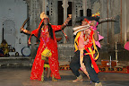 We went to a traditional Rajasthani music and dance show in Udaipur.