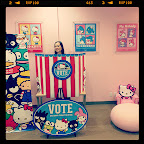 I voted for #Kuromi! Contrary to popular belief, #HelloKitty is not my favorite; she just has more stuff. ;) #sanrio #vote #votingbooth