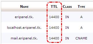 TTL DNS Record