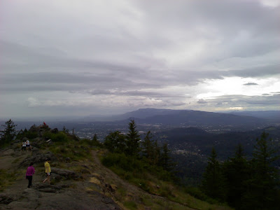 View from the top of the Butte
