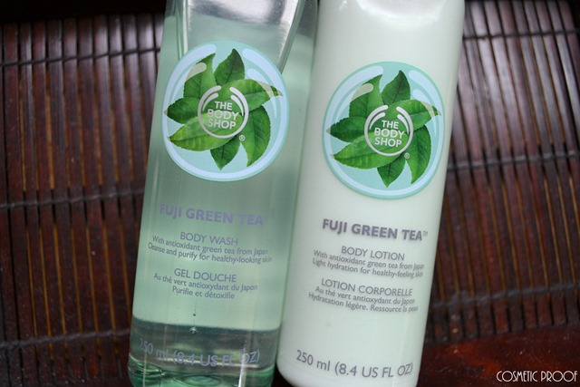 The Body Shop Body Lotion and Shower Gel Fuji Green Tea Review