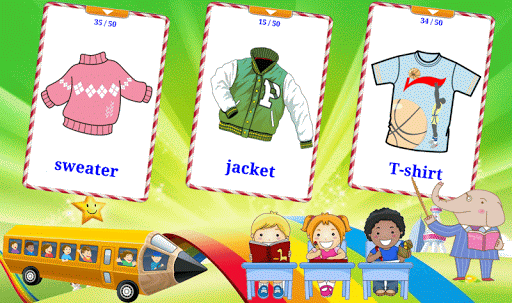 Learn Clothes Flashcards V2