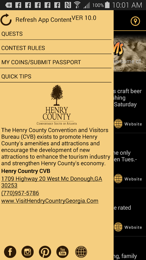Henry County Treasure App- screenshot