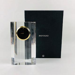Movado NEW Crystal Desk Clock
