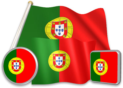 Portuguese flag animated gif collection