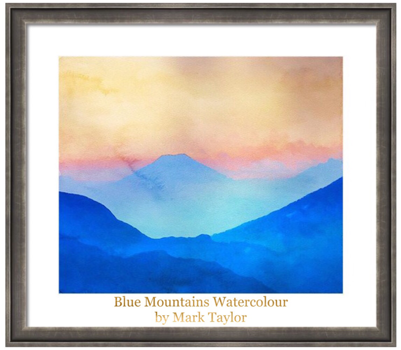 blue mountains watercolour Mark Taylor