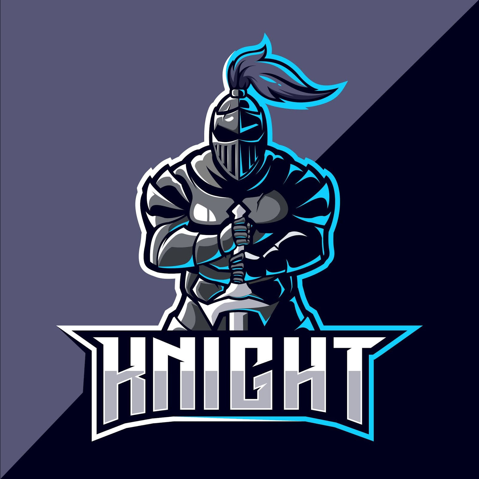 Knight Mascot Esport Logo Design Free Download Vector CDR, AI, EPS and PNG Formats