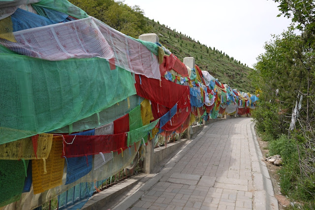 prayer flags at Kumbum Monastery (Taer Si) in Qinghai, China