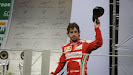 Fernando Alonso on the podium for Ferrari again