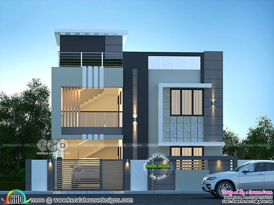 Modern contemporary house rendering