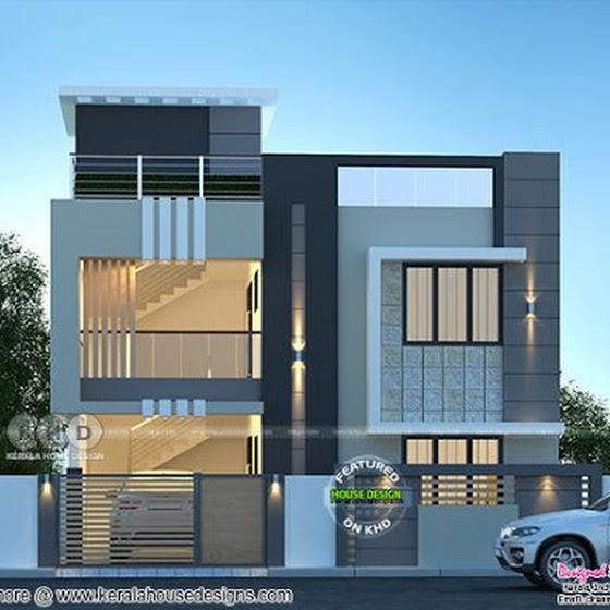 4 bedrooms 2420 sq.ft duplex modern home design